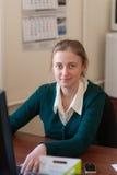 Менеджер в офисе Стоковые Изображения