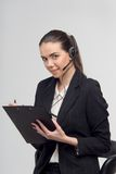 Менеджер в центре телефонного обслуживания Стоковое фото RF