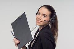Менеджер в центре телефонного обслуживания Стоковое Фото