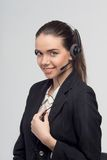 Менеджер в центре телефонного обслуживания Стоковые Изображения