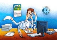 Менеджер на работе в офисе Стоковая Фотография