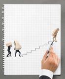 Менеджер рисуя план-график поставки товаров стоковые изображения