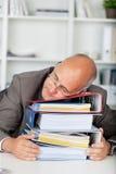 Менеджер спать на связывателях Стоковые Фотографии RF