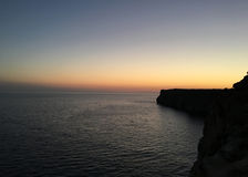 Менорка захода солнца стоковое фото