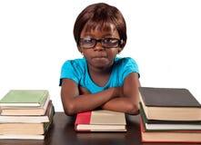 Меньшая африканская девушка школы Стоковое Изображение RF