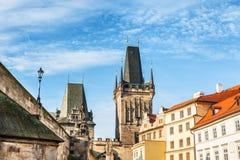 Меньшая башня моста городка в Праге Стоковые Фото