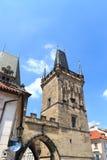 Меньшая башня моста городка Карлова моста, Праги Стоковое Фото