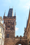 Меньшая башня моста городка Карлова моста, Праги Стоковое Изображение