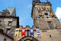 Меньшая башня моста городка, Прага Стоковое фото RF