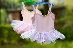 2 меньшая балетная пачка в пастельном цвете для девушек Стоковая Фотография