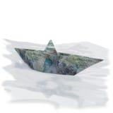 Меньшая бумажная шлюпка с 5 фунта стерлинга Стоковое Изображение