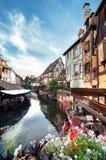 Меньшая Венеция в Кольмаре, Эльзасе, Франции Стоковые Фотографии RF