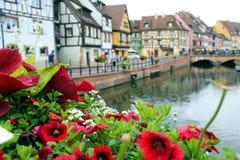 Меньшая Венеция Кольмара в Франции стоковое изображение rf