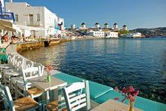 Меньшая Венеция Mykonos, Греции стоковые изображения
