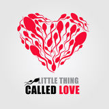 Меньшая вещь вызвала влюбленность (красное сердце спермы) иллюстрация штока
