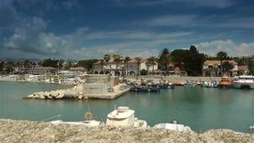 Меньшая гавань на Cote d'Azur Франции сток-видео