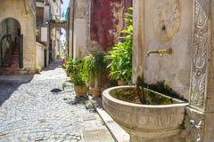 Меньшая деревня в Италии Стоковое Фото