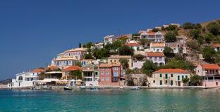Меньшая деревня Assos на острове Kefalonia в Греции Стоковые Изображения