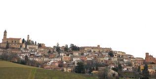 Меньшая деревня na górze холма Стоковые Изображения RF