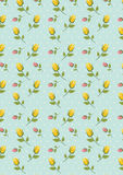 Меньшая желтая розовая печать цветка иллюстрация вектора