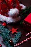 Меньшая звезда с украшением рождества Стоковое Фото