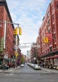 Меньшая Италия, Манхаттан, Нью-Йорк, Соединенные Штаты стоковые изображения rf