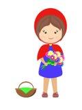Меньшая иллюстрация шаржа красного клобука катания Стоковая Фотография