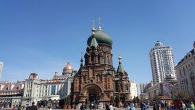 Меньшая Москва в фарфоре Стоковые Изображения RF