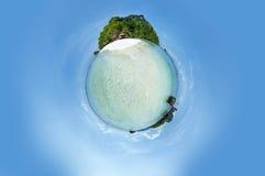 Меньшая панорама планеты на пляже Стоковые Изображения RF
