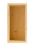 Меньшая пустая деревянная коробка Стоковые Изображения RF