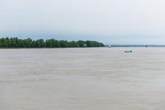 Меньшая хата в море на челке Taboon, Phetchaburi, Таиланде Стоковые Фото