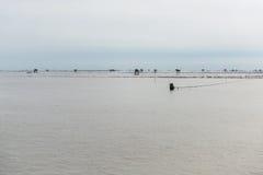 Меньшая хата в море на челке Taboon, Phetchaburi, Таиланде Стоковое Изображение RF