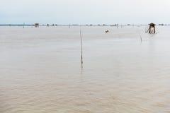 Меньшая хата в море на челке Taboon, Phetchaburi, Таиланде Стоковые Изображения RF
