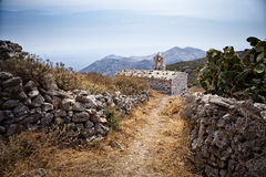 Меньшая церковь в Mani, Греции стоковые фото