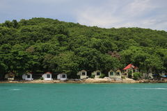 Меньшее взморье дома на острове Samed, Таиланде Стоковое фото RF