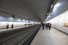 Меньшее кольцо железных дорог Москвы 54 орбитальная железная дорога 4-kilometre-long в Москве Россия Железнодорожный вокзал Plosh Стоковые Фотографии RF