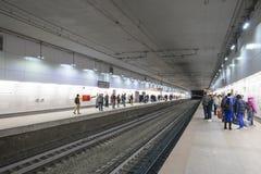 Меньшее кольцо железных дорог Москвы 54 орбитальная железная дорога 4-kilometre-long в Москве Россия Железнодорожный вокзал Plosh Стоковая Фотография RF