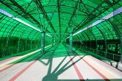 Меньшее кольцо железных дорог MCC Москвы, или MK MZD, 54 железная дорога орбитали 4-kilometre-long Россия Железнодорожный вокзал  Стоковые Изображения RF