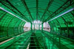 Меньшее кольцо железных дорог MCC Москвы, или MK MZD, 54 железная дорога орбитали 4-kilometre-long Россия Железнодорожный вокзал  Стоковая Фотография RF