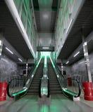 Меньшее кольцо железных дорог MCC Москвы, или MK MZD, 54 железная дорога орбитали 4-kilometre-long Россия Железнодорожный вокзал  Стоковые Фото