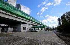 Меньшее кольцо железных дорог MCC Москвы, или MK MZD, 54 железная дорога орбитали 4-kilometre-long Россия Железнодорожный вокзал  Стоковые Фотографии RF