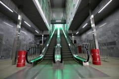Меньшее кольцо железных дорог MCC Москвы, или MK MZD, 54 железная дорога орбитали 4-kilometre-long Россия Железнодорожный вокзал  Стоковая Фотография