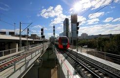 Меньшее кольцо железных дорог MCC Москвы, или MK MZD Россия Стоковое фото RF