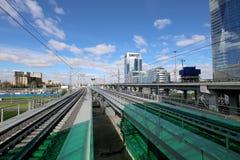 Меньшее кольцо железных дорог MCC Москвы, или MK MZD Россия Стоковое Изображение