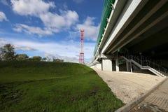 Меньшее кольцо железных дорог MCC Москвы, или MK MZD Россия Стоковые Изображения
