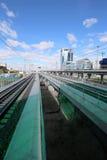 Меньшее кольцо железных дорог MCC Москвы, или MK MZD Россия Стоковая Фотография