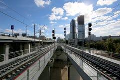 Меньшее кольцо железных дорог MCC Москвы, или MK MZD Россия Стоковое Изображение RF