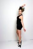 Меньшее черное платье коктеиля Стоковые Фото