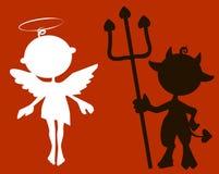 Меньшие ангел и дьявол Стоковые Изображения RF