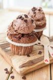 Меньшие булочки шоколада Стоковое Изображение